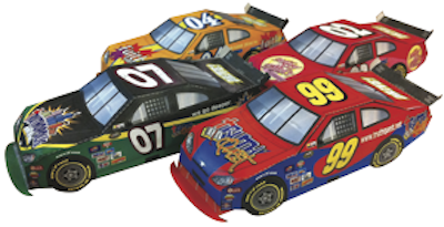 Paper Stock Cars Craft